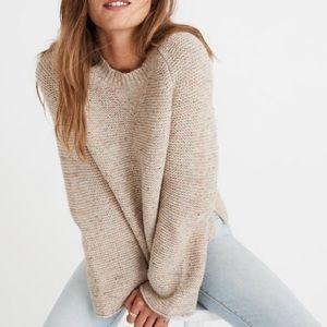 Madewell Flecked Wide Arm Cream Sweater S…